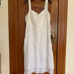 NWT Lilly Pulitzer Kinsey White Eyelet Linen Dress